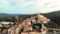 Aerial: flying around Cervo medieval town on the m 43688841
