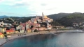 Aerial: flying around Cervo medieval town on the m 43688846