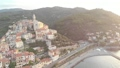 Aerial: flying around Cervo medieval town on the m 43688848