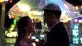 umbrella, couple, smiling 43727294