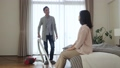 Middle couple cleaning housework lifestyle image 43781300