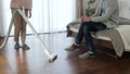 Middle couple cleaning housework lifestyle image 43781301