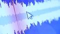 Active wave spectrum display on digital monitor 43793571