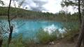 枯れた松の木が立つ幻想的な青い池の風景._3 43846575