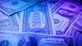 Pile Of Dollars Rotating In Nightclub 43846670