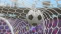 Soccer Ball Flies into the Goal, Beautiful 3d 43855446