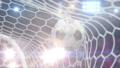 Soccer Ball Flies into the Goal, Beautiful 3d 43855447