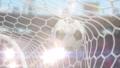 Soccer Ball Flies into the Goal, Beautiful 3d 43855448