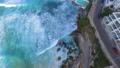 Flying over the rock pools in Bondi beach 43907695