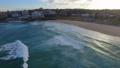 An ascending shot of the houses surrounding Bondi beach 43907696
