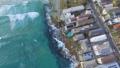 Drone gliding through Bondi beach capturing the waves 43907700
