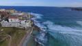 Aerial shot of houses on Bondi beach 43907702
