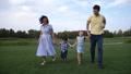 family, running, park 43913822