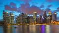 Singapore skyline day to night timelapse 43917422