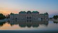Belvedere Museum garden at sunset in Vienna 43917426