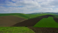 Agriculture fields on hills in Morocco, timelapse 44058039