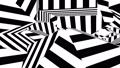 Black and white stripes. Computer generated abstract background, 3D render 44201763