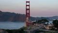 Golden Gate Bridge on sunset sky background in San Francisco 44241985