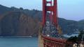 Illuminated traffic on Golden Gate Bridge in San Francisco 44241987