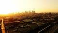 航拍视频洛杉矶市中心日落和洛杉矶河 44244965