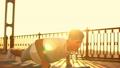 man doing push-ups on the fists 44248559