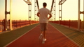 man has a morning jog 44248565