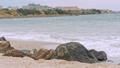 Sea waves crashing against the rocks 44253681