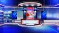 Virtual set news1 Virtual set studio for green foo 44269508