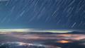 """滿天星斗的天空升起富士山蘇庫山登山雲海洋""""遊戲中時光倒流 44275892"""