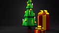 Christmas tree and gift boxes 44284599