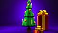 Christmas tree and gift boxes 44284604
