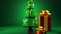 Christmas tree and gift boxes 44284605