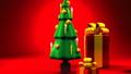 Christmas tree and gift boxes 44284607
