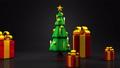 Christmas tree and gift boxes 44284610