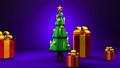 Christmas tree and gift boxes 44284629