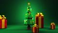 Christmas tree and gift boxes 44284630