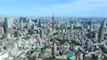 Megapolis Tokyo Tokyo Tower and downtown Tokyo autumn sky clear timelapse fixed 44292687