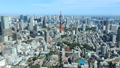 Megapolis Tokyo Tokyo Tower and downtown Tokyo Autumn sky Clear timelapse Zoom out 44292746