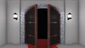 開く扉トランジション 白壁バラアルファ 44303648
