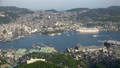 長崎市全景を俯瞰 稲佐山展望台からの長崎湾パノラマ眺望 タイムラプス 44328342