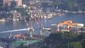 長崎市全景を俯瞰 稲佐山展望台からの長崎湾眺望 タイムラプス 44328350