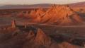 天然碱石峰岩层无人机鸟瞰图镜头 44342383