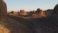 天然碱石峰岩层无人机鸟瞰图镜头 44342388
