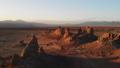 天然碱石峰岩层无人机鸟瞰图镜头 44342390