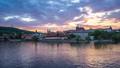 Day to night timelapse of Prague skyline in Czech 44362779