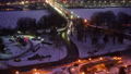 Time lapse of Key bridge in Washington DC at winter dawn 44363037
