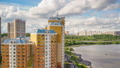 Timelapse of summer day on Moscow river 44363049