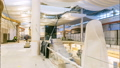 workers install design elements inside future shopping mall 44377575