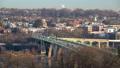 View on Key bridge in Washington DC at winter morning 44386192