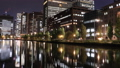 東京トワイライト 丸の内オフィス街 ライトアップ タイムラプス パン 44393220